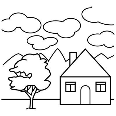 Domy I Mieszkania Kolorowanki Do Druku
