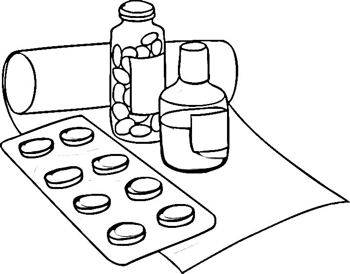 arv pills coloring pages - photo#3