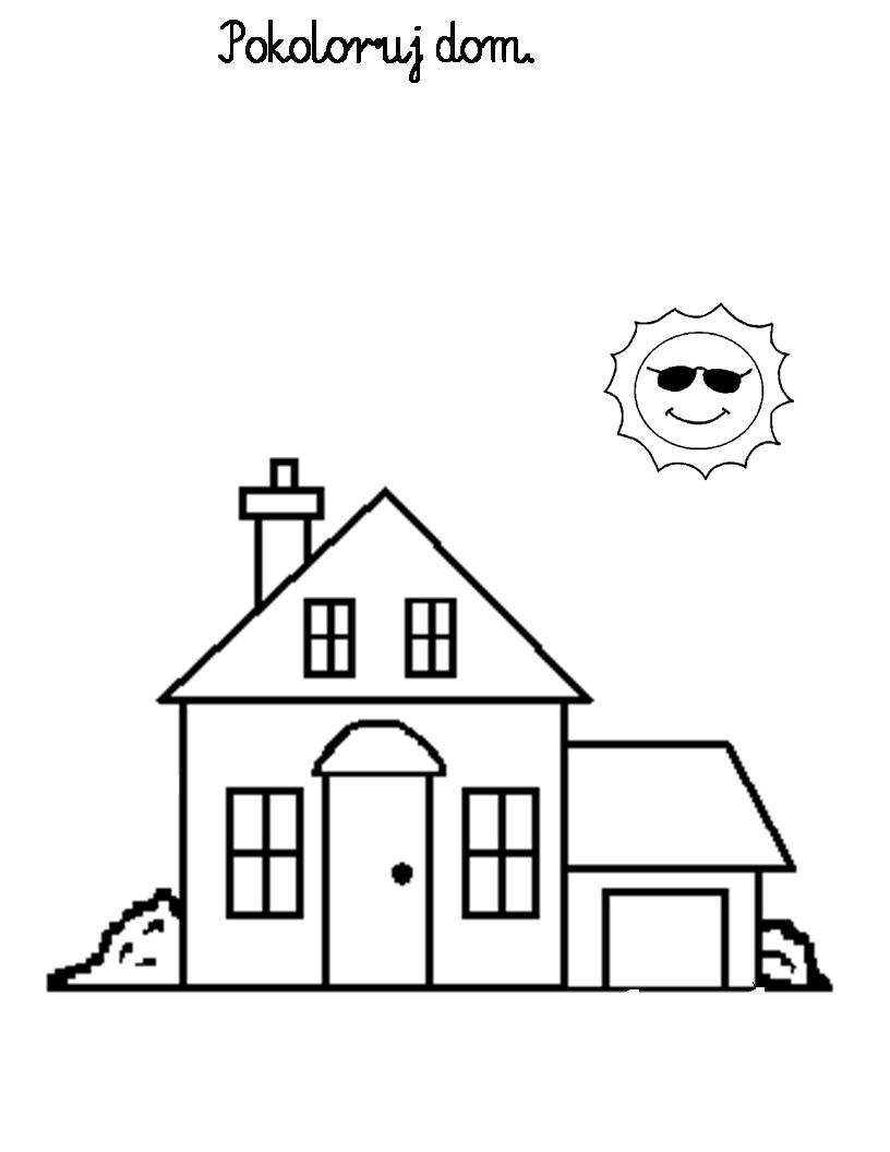 Domy I Mieszkania D Dom Mieszkanie Kolorowanka 8 Jpg