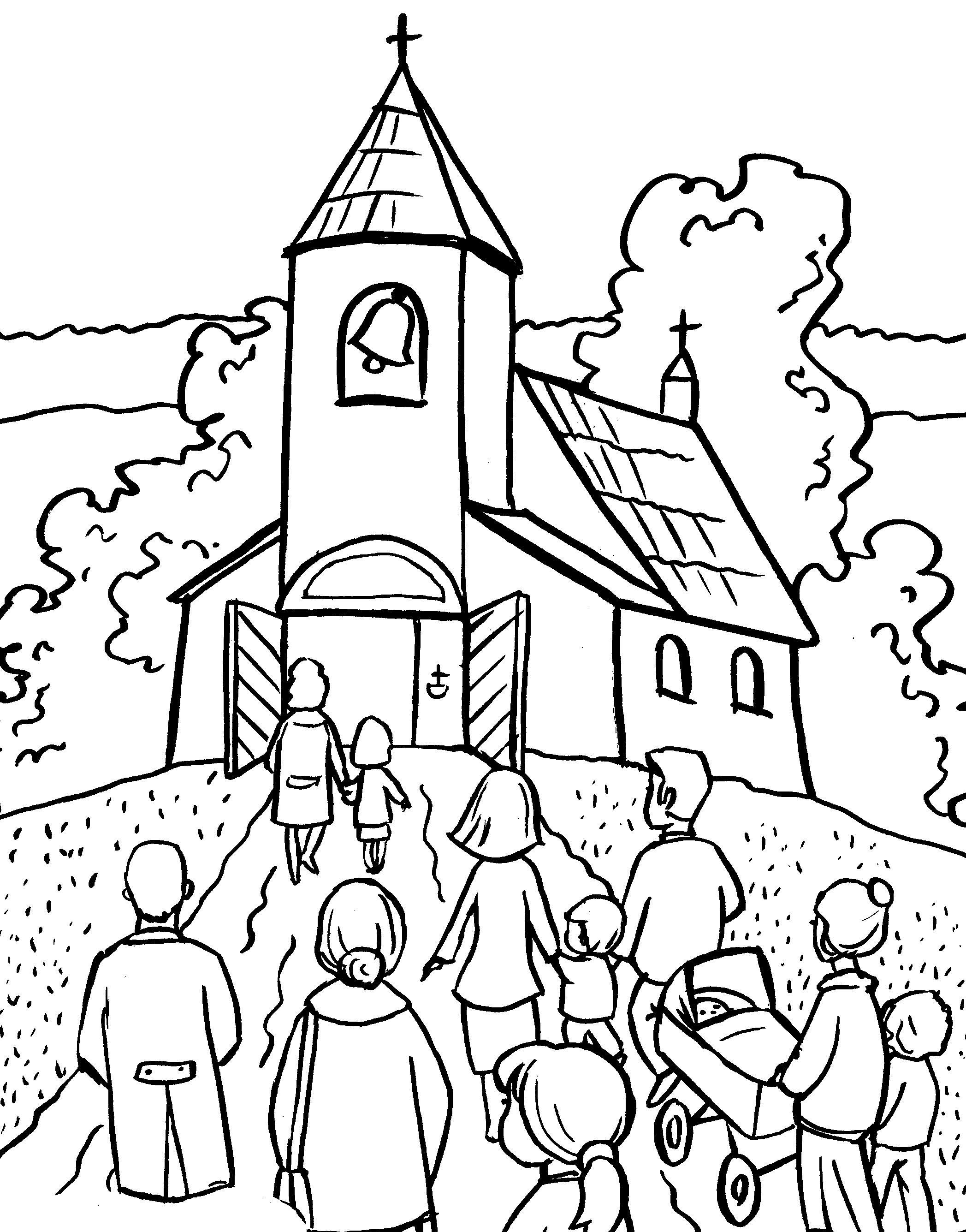 Znalezione obrazy dla zapytania kościół kolorowanka